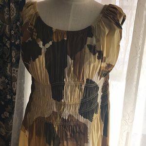 Gold patch Dress